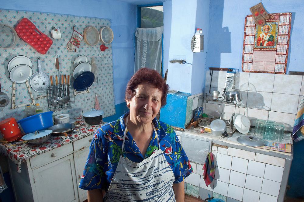 Portrait of local people,  the village Slobozia Mare near lake Belau, South West of Moldova