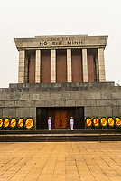 Ho Chi Minh Mausoleum, Hanoi, northern Vietnam. It is the final resting place of Vietnamese Revolutionary leader Ho Chi Minh in Hanoi, Vietnam. It is a large building located in the center of Ba Dinh
