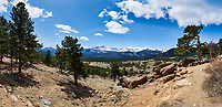 Rocky Mountain National Park landscape panorama. Composite of four images taken with a Nikon D3 camera and 14-24 mm f/2.8 lens (ISO 200, 14 mm, f/16, 1/200 sec). Composite created using Auto Pano Giga.