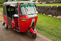 """The Tuk Tuk or """"three wheeler"""" is one of the most popular modes of transport across many parts of Asia as a vehicle for hire. It is a motorized version of the traditional rickshaw or velotaxi, a small three-wheeled cart and are usually powered by 2 cycle or 4 cycle motorbike engines."""