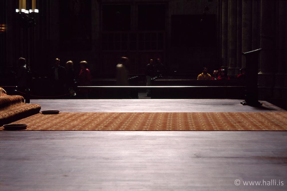 Carpet in church in Cologne, Germany - Kölnarkirkja