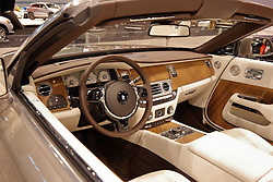 09 February 2017: Rolls Royce Dawn interior<br /> <br /> First staged in 1901, the Chicago Auto Show is the largest auto show in North America and has been held more times than any other auto exposition on the continent.  It has been  presented by the Chicago Automobile Trade Association (CATA) since 1935.  It is held at McCormick Place, Chicago Illinois<br /> #CAS17
