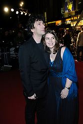 Beowulf<br /> premier, Vue Cinema, Leicester Sq, London, Great Britain<br /> 11th November 2007<br /> <br /> Neil Gaiman & Holly Gaiman (daughter)<br /> <br /> Photograph by Elliott Franks