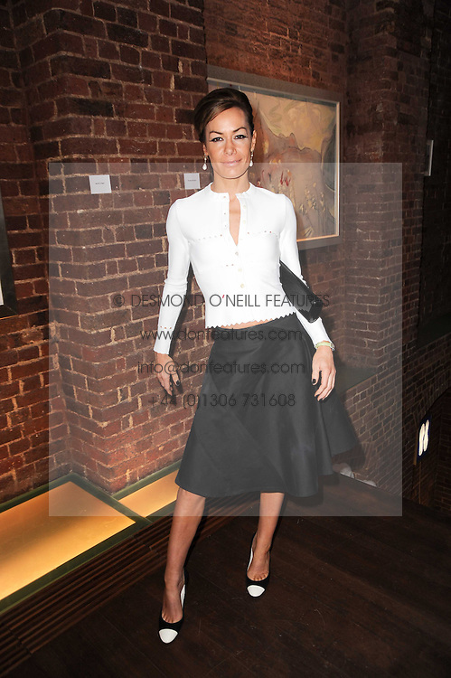 TARA PALMER-TOMKINSON at a private view of Sacha Jafri's paintings entitled 'London to India' held in aid of The Elephant Family charity at 23 Macklin Street, Covent Garden, London on 3rd June 2010.