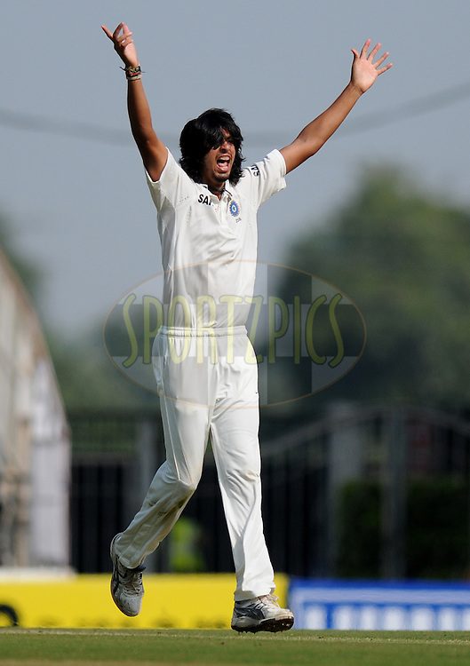 Ishant Sharma of India appeals successfully for the wicket Tim Bresnan of England during day two of the 4th Airtel Test Match between India and England held at VCA ground in Nagpur on the 14th December 2012..Photo by  Pal Pillai/BCCI/SPORTZPICS .