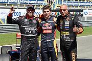 Gamma Racing Day 2015 on the TT Assen.<br /> <br /> On the photo:  Max Verstappen op de foto met Tim en Tom Cornonel