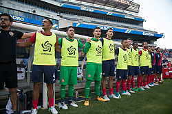 July 19, 2017 - Philadelphia, Pennsylvania, U.S - Costa Rica bench during the national anthem at the  CONCACAF Gold Cup 2017 action at Lincoln Financial Field in Philadelphia, PA.  Costa Rica defeats Panama 1 to 0. (Credit Image: © Mark Smith via ZUMA Wire)