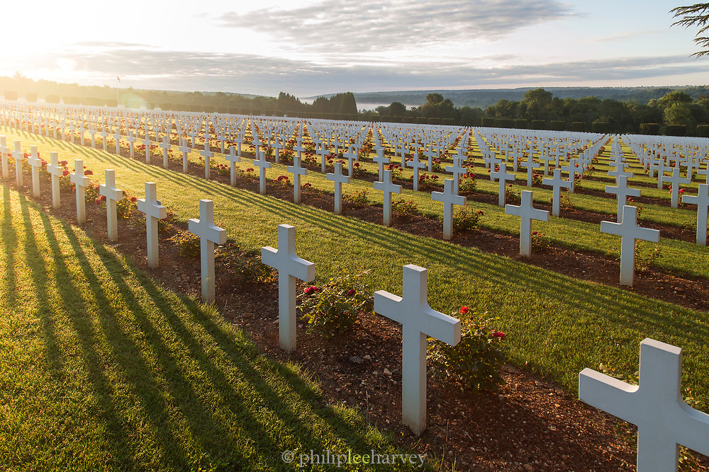 Rows of crosses at Douaumont Ossuary in Douaumont, France