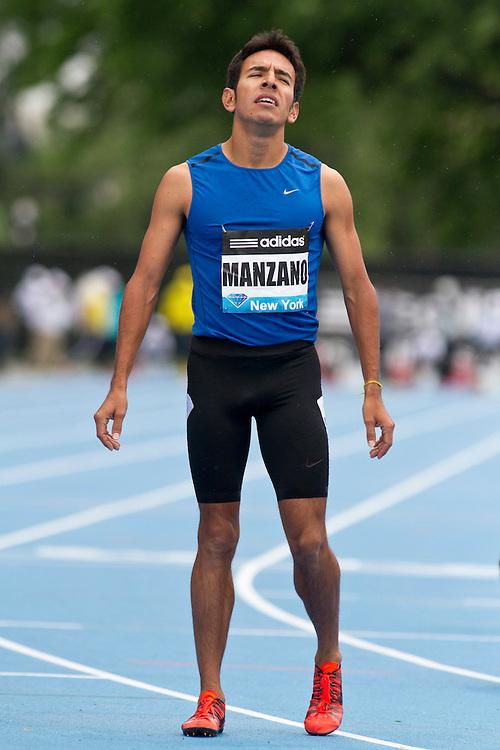 adidas Grand Prix Diamond League professional track & field meet: mens 800 meters, Leo Manzano