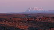 Mount Herdubreid in the midnight sun, Iceland
