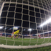 Kenny Cooper, New York Red Bulls, scores after a Thierry Henry pass during the New York Red Bulls V Toronto FC  Major League Soccer regular season match at Red Bull Arena, Harrison. New Jersey. USA. 29th September 2012. Photo Tim Clayton
