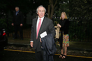 MR. AND MRS. JACKIE STEWART, Sir David and Lady Carina Frost annual summer party, Carlyle Sq. London. 5 July 2007  -DO NOT ARCHIVE-© Copyright Photograph by Dafydd Jones. 248 Clapham Rd. London SW9 0PZ. Tel 0207 820 0771. www.dafjones.com.