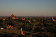 Sunset seen from Shwesadaw temple, in Bagan, Burma<br />