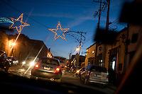 City lights of San Miguel de Allende during the Christmas season.