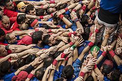 November 20, 2016 - Barcelona, Catalonia, Spain - The base of a human tower by the 'Castellers de la Vila de Gracia' during a 'diada castellera' at Barcelona's Gracia quarter (Credit Image: © Matthias Oesterle via ZUMA Wire)