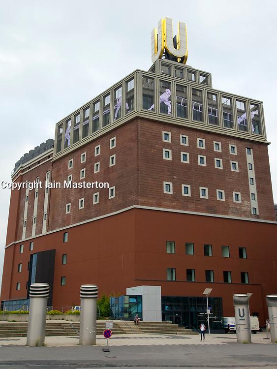 "Exterior of Dortmunder ""U"" art and culture center  including the Ostwall Museum in Dortmund Germany"