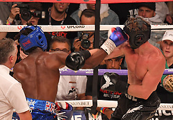 YOUTUBE stars KSI and Logan Paul took each other on in a massive boxing match in Manchester this evening resulting in a draw. 25 Aug 2018 Pictured: logan Paul, KSI. Photo credit: Andy Kelvin/Kelvinmedia / MEGA TheMegaAgency.com +1 888 505 6342