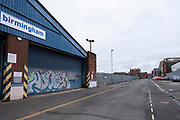As the third national coronavirus lockdown continues, the streets remain eerily empty, like here in the industrial area in Digbeth, which is all but deserted on 18th January 2021 in Birmingham, United Kingdom. Following the recent surge in cases including the new variant of Covid-19, this nationwide lockdown, which is an effective Tier Five, advises all citizens to follow the message to stay at home, protect the NHS and save lives.