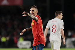 Spain's Paco Alcacer celebrates goal during UEFA Nations League 2019 match between Spain and England at Benito Villamarin stadium in Sevilla, Spain. October 15, 2018. Photo by A. Perez Meca/Alterphotos/ABACAPRESS.COM