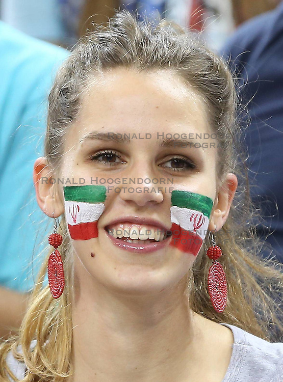 07.09.2014, Krakow Arena, Krakau, POL, FIVB WM, Iran vs Puerto Rico, Gruppe D, im Bild KIBIC IRAN // during the FIVB Volleyball Men's World Championships Pool D Match beween Iran and Puerto Rico at the Krakow Arena in Krakau, Poland on 2014/09/07. <br /> <br /> ***NETHERLANDS ONLY***