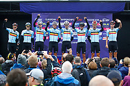 Men Road Race 230,4 km, team Belgium, during the Cycling European Championships Glasgow 2018, in Glasgow City Centre and metropolitan areas, Great Britain, Day 11, on August 12, 2018 - Photo Luca Bettini / BettiniPhoto / ProSportsImages / DPPI - Belgium out, Spain out, Italy out, Netherlands out -