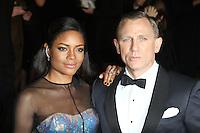 LONDON - OCTOBER 23: Naomie Harris; Daniel Craig attended the Royal World Film Premiere of 'Skyfall' at the Royal Albert Hall, London, UK. October 23, 2012. (Photo by Richard Goldschmidt)