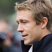 England player Jonny Wilkinson at Wakatipu High School, Queenstown during a visit by England players  during the IRB Rugby World Cup tournament.  Queenstown, New Zealand. 15th September 2011. Photo Tim Clayton....