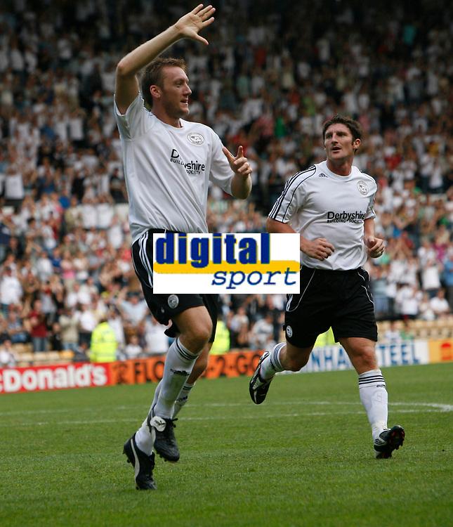 Photo: Steve Bond.<br />Derby County v RCD Espanyol. Pre Season Friendly. 04/08/2007.  Steve Howard celebrates