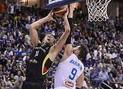 DESCRIZIONE : Berlino Berlin Eurobasket 2015 Group B Germany Germania - Italia Italy<br /> GIOCATORE : Dirk Niwotzki Andrea Bargnani<br /> CATEGORIA : Tiro Penetrazione Stoppata<br /> SQUADRA : Germania Germany<br /> EVENTO : Eurobasket 2015 Group B<br /> GARA : Germany Italy - Germania Italia<br /> DATA : 09/09/2015<br /> SPORT : Pallacanestro<br /> AUTORE : Agenzia Ciamillo-Castoria/R.Morgano