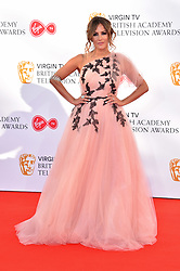 Caroline Flack attending the Virgin TV British Academy Television Awards 2018 held at the Royal Festival Hall, Southbank Centre, London.