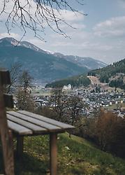 THEMENBILD - der Blick auf Kaprun und die Burg Kaprun, aufgenommen am 03. April 2020 in Kaprun, Oesterreich // the view to Kaprun and the castle Kaprun, in Kaprun, Austria on 2020/04/03. EXPA Pictures © 2020, PhotoCredit: EXPA/Stefanie Oberhauser