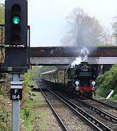 Merchant Navy Class 35028 Clan Line Steam locomotive