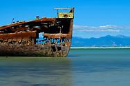 Oceania, New Zealand, Aotearoa, South Island, Golden Bay, Motueka, Shipwreck