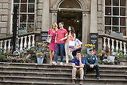NO FEE PICTURES<br /> 11/2/16 Aoibhin Garrihy aka Sorcha, Emmet Byrne as Traolach, Roisin O'Neill, aka Honor, Rory Nolan aka Ross and Laurence Kinlan aka Ronan,at a photocall to anounce the return of Ross O'Carroll Kelly's Breaking Dad to the Gaiety Theatre. With record breaking sales of over 45,000 tickets, rave reviews and standing ovations every night Breaking Dad returns to the Gaiety for the final time for strictly two weeks from Monday March 14th until Saturday March 26th 2016. Picture: Arthur Carron