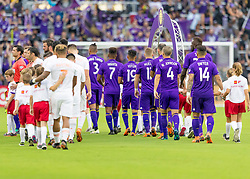 May 13, 2018 - Orlando, FL, U.S. - ORLANDO, FL - MAY 13: walk out during the MLS soccer match between the Orlando City and the Atlanta United on May 13th, 2018 at Orlando City Stadium in Orlando, FL. (Photo by Andrew Bershaw/Icon Sportswire) (Credit Image: © Andrew Bershaw/Icon SMI via ZUMA Press)