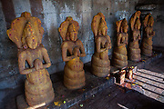 Sculptures in the Brihadeeswarar temple on 25th November 2009 in Tanjore / Thanjavur, Tamil Nadu, India. Brihadeeswarar Temple, also called Rajarajesvaram or Peruvudaiyar Kovil, is a Hindu temple dedicated to Shiva located in South bank of Kaveri river. It is one of the largest South Indian temples and an exemplary example of a fully realized Dravidian architecture. .