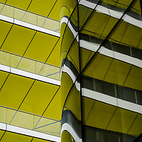 abstract reflections from riverside apartments in London