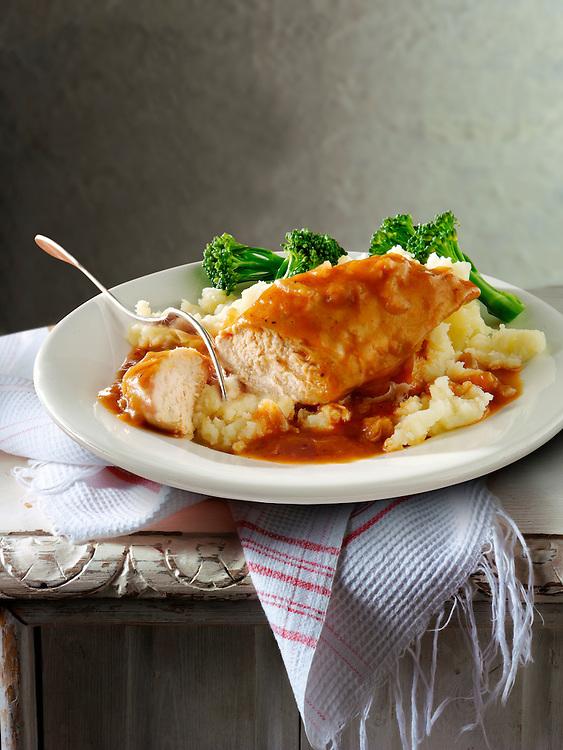 British Food - Roast chicken Breast & Gravy