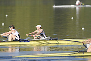 Hazewinkel, BELGIUM,  Women's Pair,  Bow, Katie GREVE and Carla ASHFORD,  move away from the start pontoon in the Sunday afternoon semi final, at the GB Rowing Senior Trials, on Sun,15.04.2007  [Credit, Peter Spurrier/Intersport-images]   [Mandatory Credit, Peter Spurier/ Intersport Images]. , Rowing Course, Bloso, Hazewinkel. BELGUIM