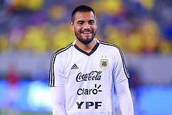 September 11, 2018 - East Rutherford, NJ, U.S. - EAST RUTHERFORD, NJ - SEPTEMBER 11:  Argentina goalkeeper Sergio Romero (1) prior to the International Friendly Soccer game between Argentina and Colombia on September 11, 2018 at MetLife Stadium in East Rutherford, NJ.   (Photo by Rich Graessle/Icon Sportswire) (Credit Image: © Rich Graessle/Icon SMI via ZUMA Press)