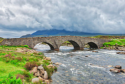 The historic bridge at Sligachan, Isle of Skye, Inner Hebrides, Scotland, UK