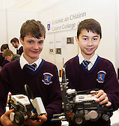 27/11/2016 REPRO FREE:    L-R: Students Ben Kanisz and Andrew Coffey from Colaiste an Chlairin pictured at their exhibition stand inNUI Galway as part of the Galway Science & Technology Festival.<br />  <br /> <br /> <br /> Photo: Andrew Downes, Xposure.