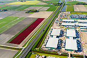 Nederland, Noord-Holland, Middenmeer, 07-05-2018; Wieringermeer, Agriport A7: bouw en uitbreiding van  mega-datacenter van Microsoft.<br /> Construction and expansion of Microsoft's mega datacenter.<br /> <br /> luchtfoto (toeslag op standard tarieven);<br /> aerial photo (additional fee required);<br /> copyright foto/photo Siebe Swart