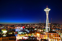 Space Needle @ Dusk, Seattle Center