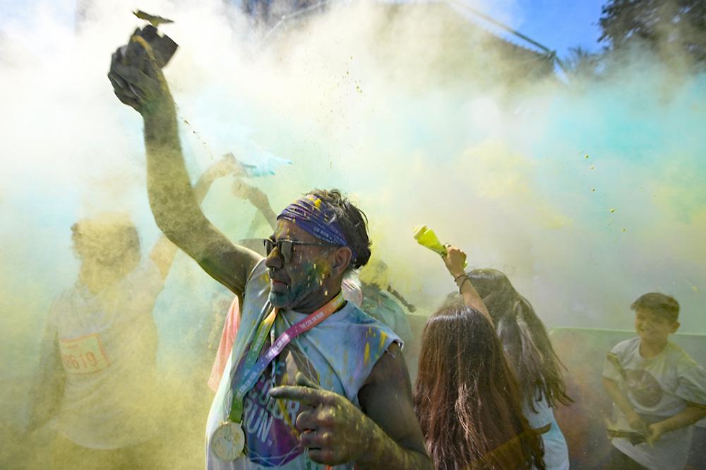 Participants enjoying The Color Run