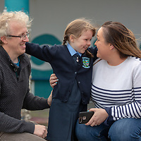 Gerard and Aisling Buckley with their daughter Sophie on her First day at school in Liscannor