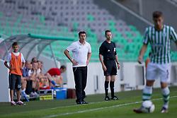 Ermin Siljak, head coach of NK Olimpija Ljubljana, during football match between NK Olimpija Ljubljana and Tromsø IL  (NOR) in 1st Leg of UEFA Europa League 2013 2nd  Qualifying Round, on July 19, 2012 in SRC Stozice, Ljubljana, Slovenia. (Photo by Matic Klansek Velej / Sportida.com)