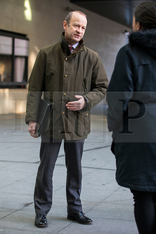 © Licensed to London News Pictures. 11/02/2018. London, UK. UKIP Leader Henry Bolton outside BBC Broadcasting House. Photo credit: Rob Pinney/LNP
