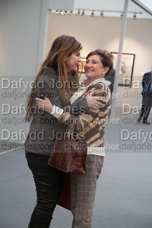 PRIYA VANDREVALA; DORIT MOUSAIEFF ( wife of  the President of Iceland, Opening of Frieze Masters. Regent's Park. London. 15 October 2013.
