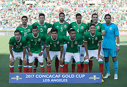 July 23, 2017 - Pasadena, California, U.S - Team photo of Mexico prior to their game with Jamaica during their Gold Cup Semifinal game at the Rose Bowl in Pasadena, California on Sunday July 23, 2017. Jamaica defeats Mexico, 1-0. (Credit Image: © Prensa Internacional via ZUMA Wire)